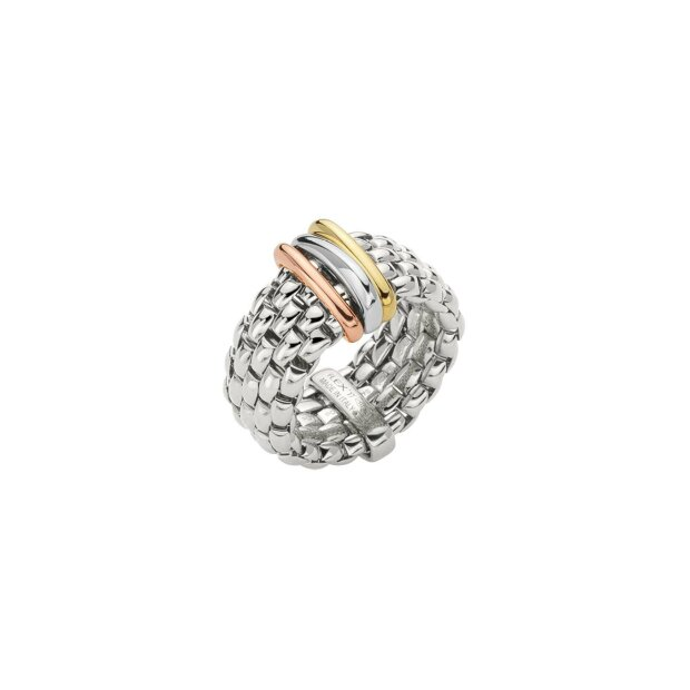 FOPE FLEXIT PANORAMA RING WEIßGOLD/TRICOLOR AN587L