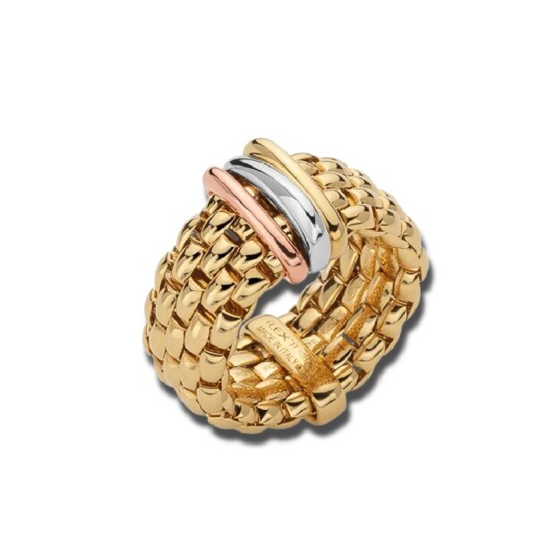 FOPE FLEXIT PANORAMA RING GELBGOLD/TRICOLOR AN587L