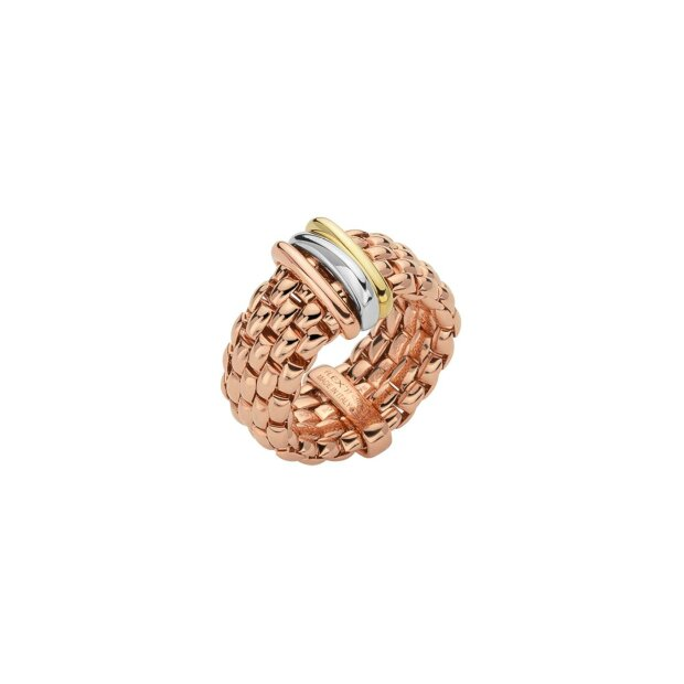 FOPE FLEXIT PANORAMA RING ROSEGOLD/TRICOLOR AN587M