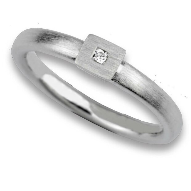 Fritsch Sterling Ring 925/- Silber Diamant 0,03 ct 00131