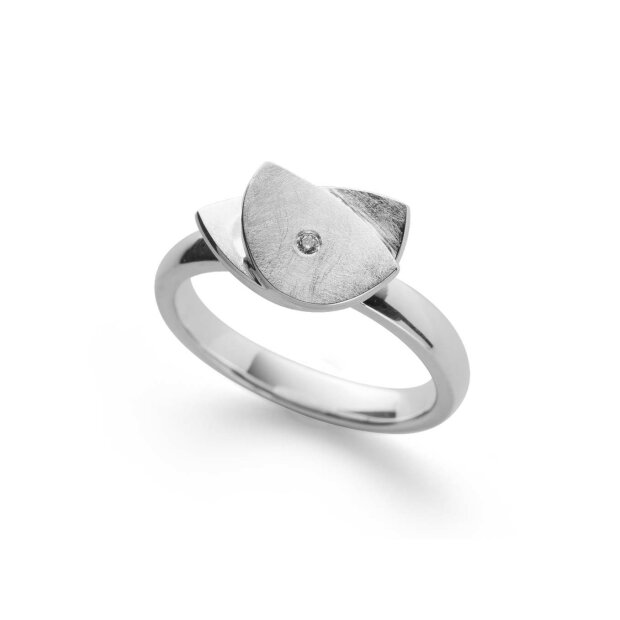 Bastian Ring 925/- Sterling Silber  Diamant 0,02 ct 38240