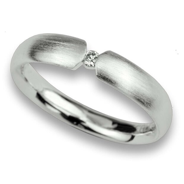 Fritsch Sterling Ring 925/- Silber Diamant 0,05 ct 00029
